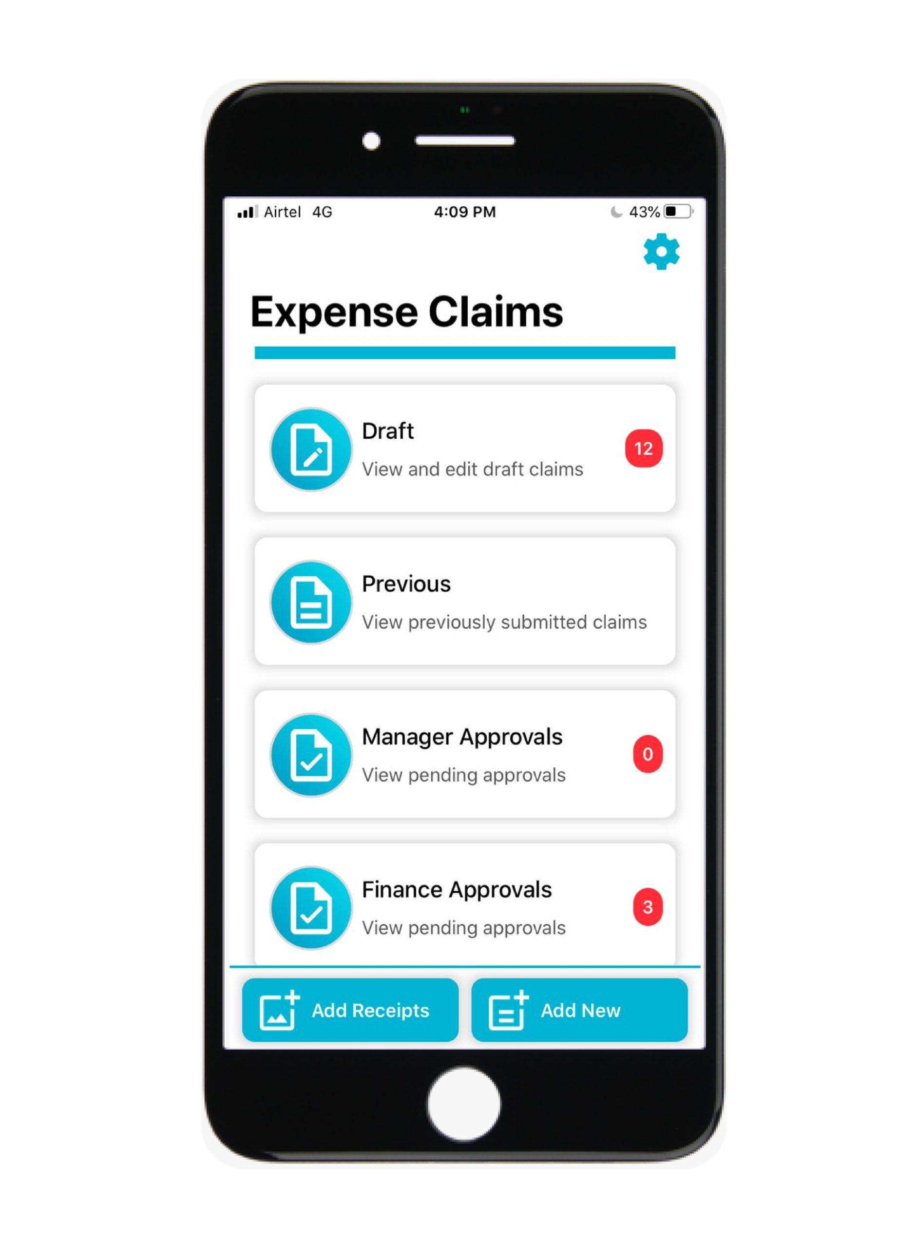 BIZHRS EXPENSE CLAIM MOBILE APPLICATION-screen-1